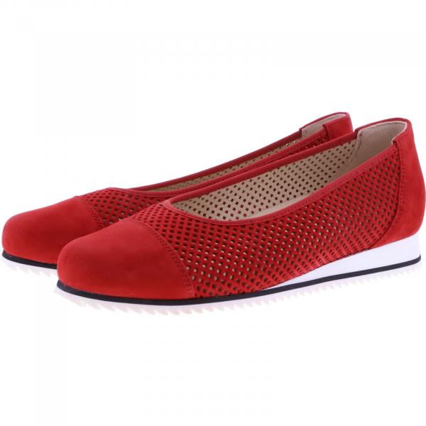 Hassia / Piacenza / Chili Rot Leder / Wechselfußbett / Art: 1-301622-9400 / Damen Ballerinas