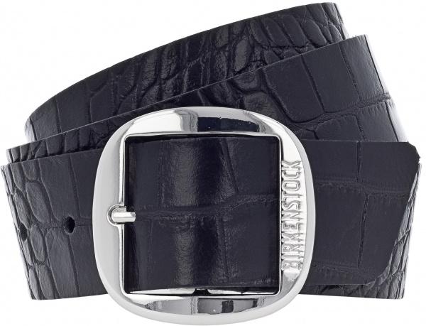 Birkenstock Gürtel / Modell: Knoxville / Breite: 40mm / Gator Anthrazit Leder / Damen Gürtel