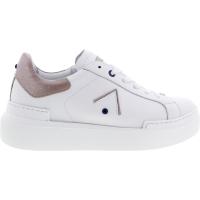 Ed Parrish Sneakers / Modell: Sarah / Bianco-Cipria / Kalbsleder / Wechselfußbett / Damen Sneakers