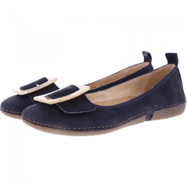 Neosens / Modell: S3116 / Viura Texas-Black Schwarz Leder / Edle Damen Ballerinas