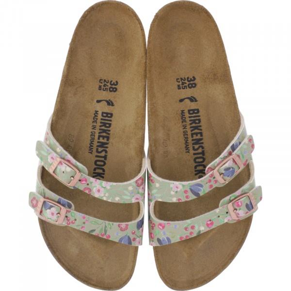 Birkenstock / Modell: Ibiza / Meadow Flowers Khaki / Weite: Schmal / Art: 1013545 / Damen Sandalen