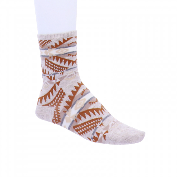 Birkenstock Damen Socken - Summer Linen Ethno - Eggshell Beige/Braun