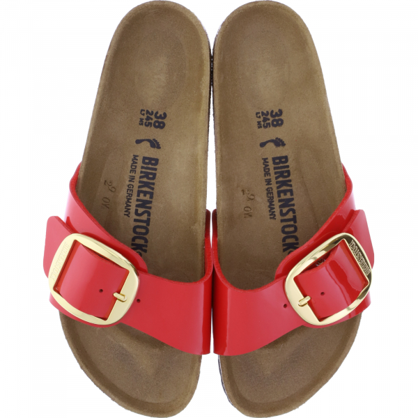 Birkenstock / Modell: Madrid Big Buckle / Cherry Rot Lack / Weite: Schmal / Art: 1019815 / Damen