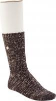 Birkenstock Damen Socken - Cotton Twist - Dunkelbraun Meliert 36-38 EU