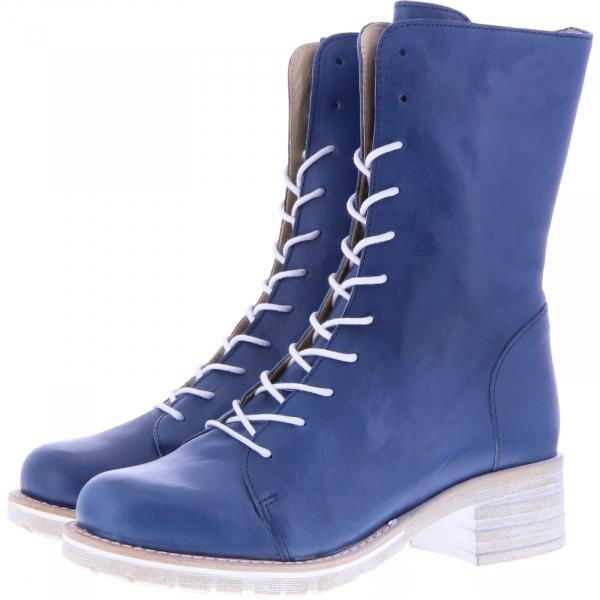 Brako / Modell: Military Roma / Jeans Blau Glattleder / Art: 8470 / Damen Stiefel