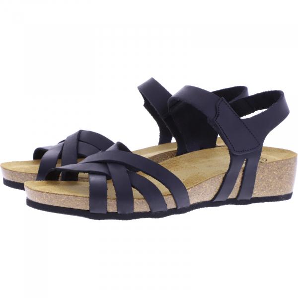 Brako / Modell: Creta / Negro-Schwarz Leder / Art: 202 / Damen Sandalen