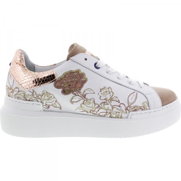 Ed Parrish Sneakers / Modell: Sarah / Cipria-Cipria / Kalbsleder-Stickerei / Wechselfußbett / Damen
