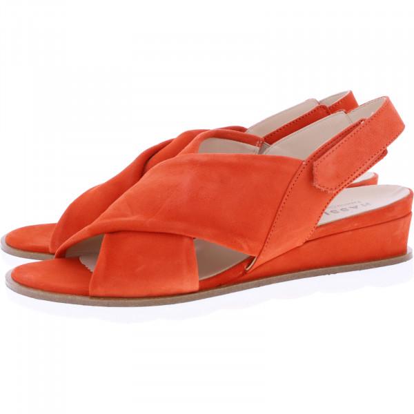 Hassia / Riva / Sunrise Rot Leder / Wechselfußbett / Art: 9-313032-4200 / Damen Sandaletten