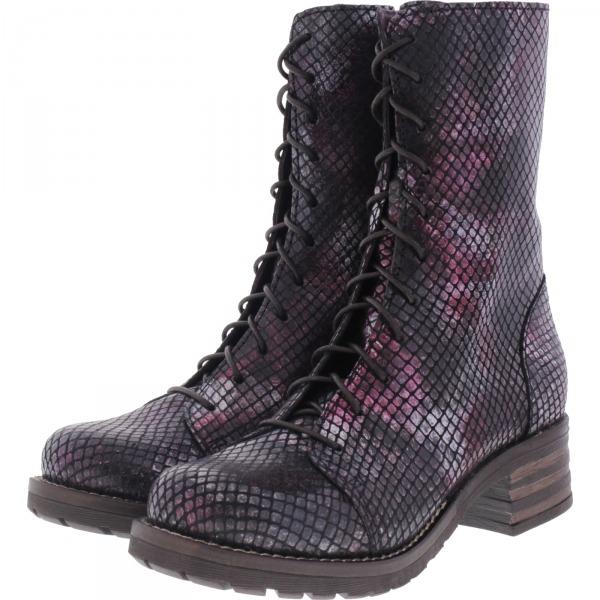 Brako / Modell: Military Tay / Burdeos Metallic Leder / Stiefel / Art: 8470 / Damen Stiefel