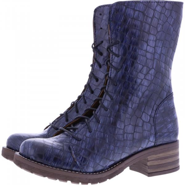 Brako / Modell: Military Opako / Marino Blau Muster Leder / Art: 8470 / Damen Stiefel