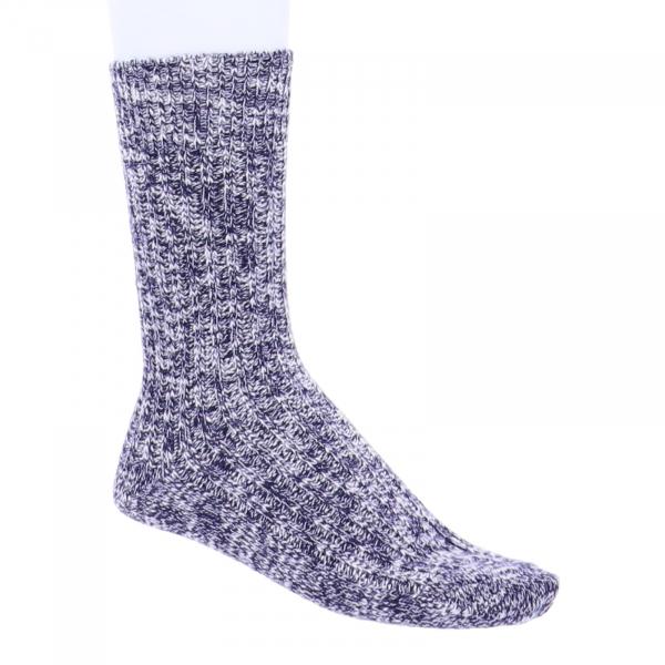 Birkenstock Damen Socken - Cotton Slub - Blau-Weiß Meliert