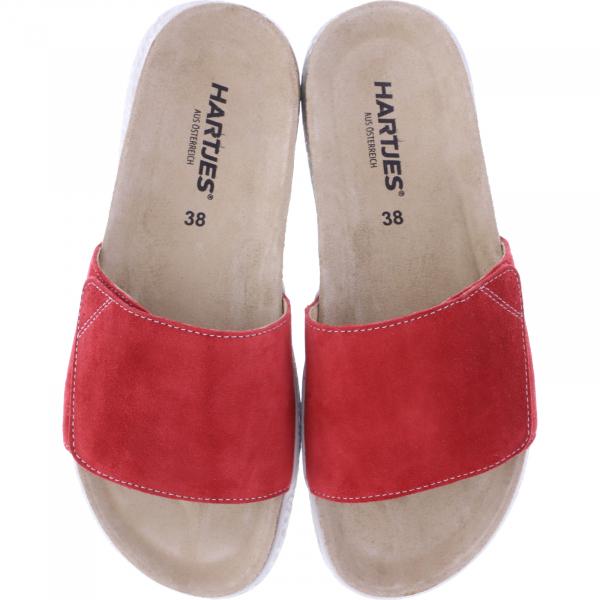 Hartjes / Modell: Move / Rot Veloursleder / Weite: G / 120122-2700 / Damen Pantoletten