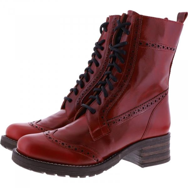 Brako / Modell: Military / Rojo Rot Bolero Glattleder / Art: 21054 / Damen Stiefel