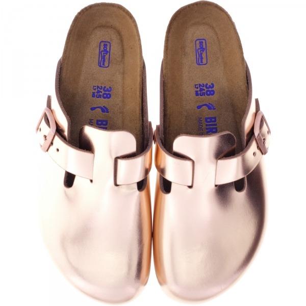 Birkenstock / Modell: Boston / Metallic Copper / Weite: Schmal / Art: 1001384 / Weichbettung
