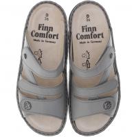 Finn Comfort / Ventura-Soft / Grey Nubuk / Wechselfußbett / Art: 82568-496218 / Damen Pantolette