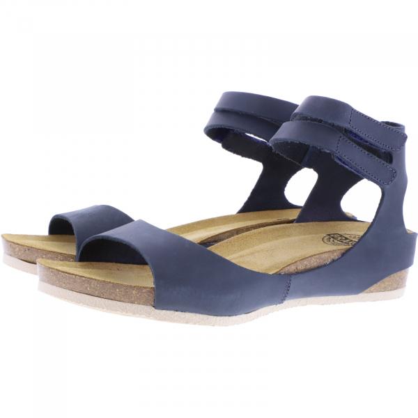 Brako / Modell: Creta / Azul-Blau Leder / Art: 204 / Damen Knöchel-Sandalen