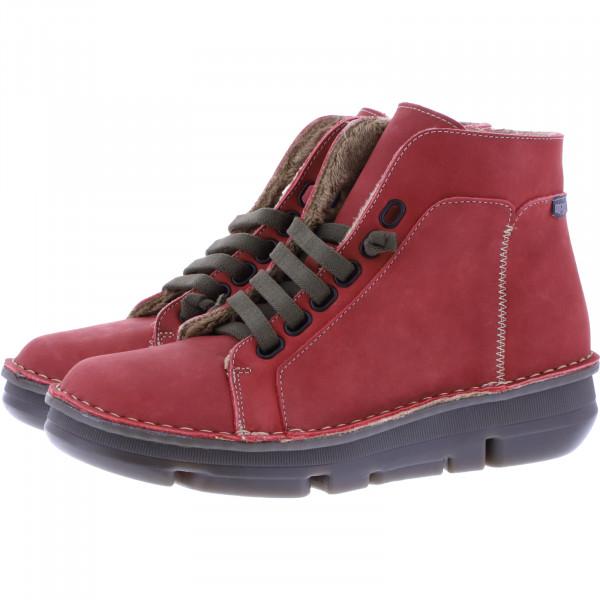OnFoot / Modell: Touch Zen High / Farbe: Rojo Rot Leder / Art.: 29001 / Damen Stiefeletten