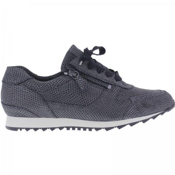 Hassia / Barcelona / Schwarz Metallic / Weite: H / Kalbsleder / Art: 2-301910-0100 / Damen Sneaker