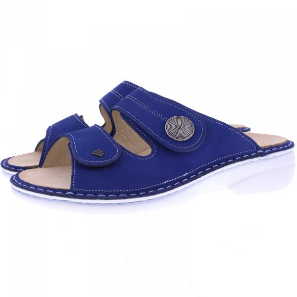 Finn Comfort / Sansibar / Kobalt Blau / Wechselfußbett / Art: 02550-007440 / Damen Pantoletten