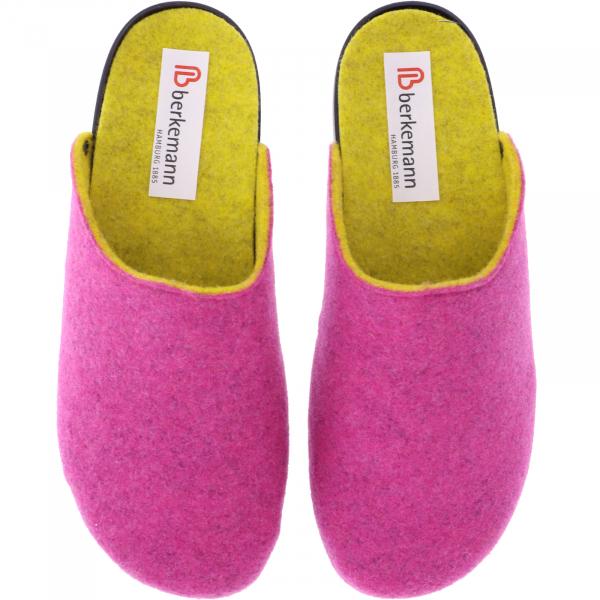 Berkemann / Modell: Vivian / Pink/Gelb Filz / Form: Granada / Art: 01460-183 / Damen Hausschuhe