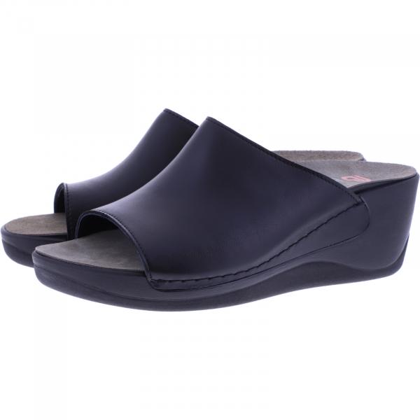 Berkemann / Modell: Saphira / Schwarz Leder / Leisten: Ferrara / Art: 01200-903 / Damen Pantoletten