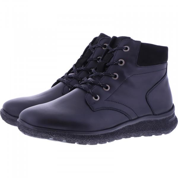 Hartjes / Modell: Rap Boot / Schwarz Glattleder / Weite: K / 160172-0101 / Damen Stiefeletten