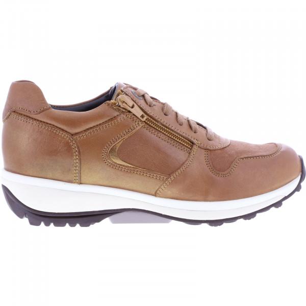 Xsensible Stretchwalker / Modell: Jersey / Cognac Leder / Art: 300422-330 / Damen Sneakers