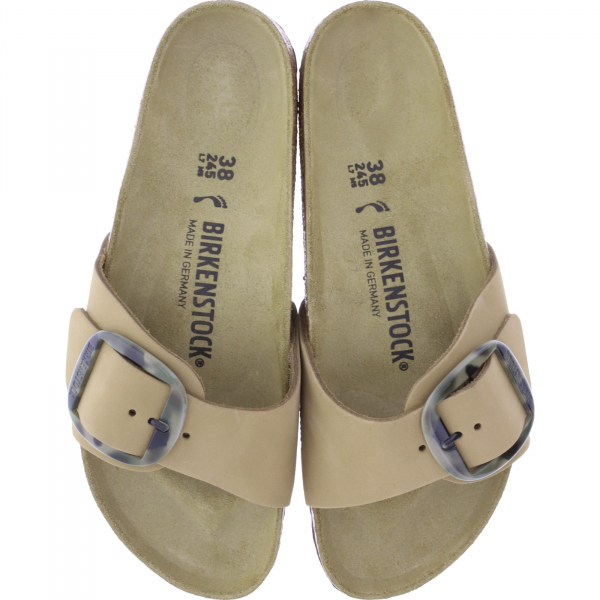 Birkenstock / Modell: Madrid Big Buckle / Mud Green Nubuk / Weite: Schmal / Art: 1018726 / Damen