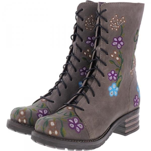 Brako / Modell: Military Oxide / Antracita Flower Leder / Stiefel / Art: 8403 / Damen Stiefel