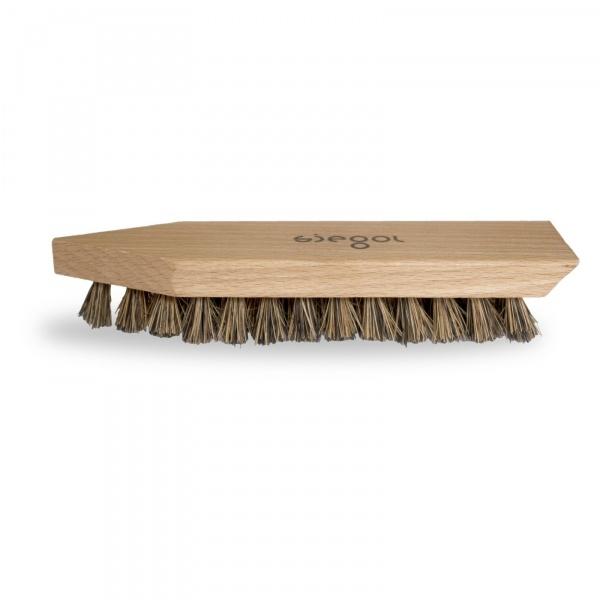 Siegol - Schuhpflege aus Schweizer Manufaktur / Siegol Schmutzbürste mit festen Kokosnussfasern