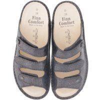 Finn Comfort / Menorca-Soft / Midnight / Wechselfußbett / Art: 82564-523229 / Damen Pantoletten