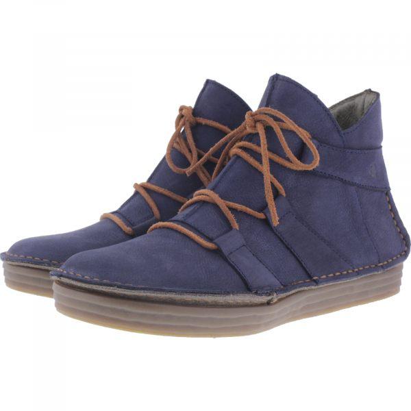El Naturalista / Modell: N5049 Rice Field / Farbe: Pleasent Ocean Blau Leder / Damen Stiefeletten
