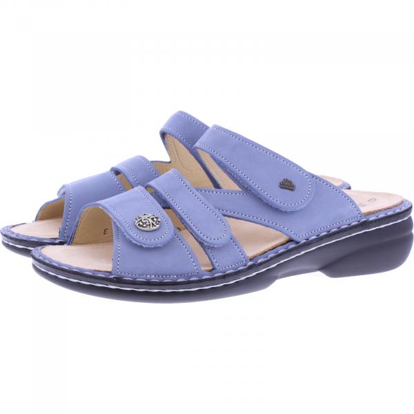 Finn Comfort / Ventura-Soft / Lightblue Nubuk / Wechselfußbett / Art: 82568-007453 / Damen Pantoletten