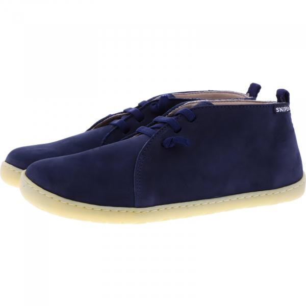 Snipe / Modell: Barefoot / Marino Blau Nubukleder / Schnürer / Art: 05283-002 / Damen Schnürer