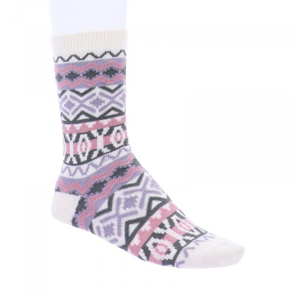 Birkenstock Damen Socken - Cotton Jacquard - Eggnog - Rosa/Oliv/Beige