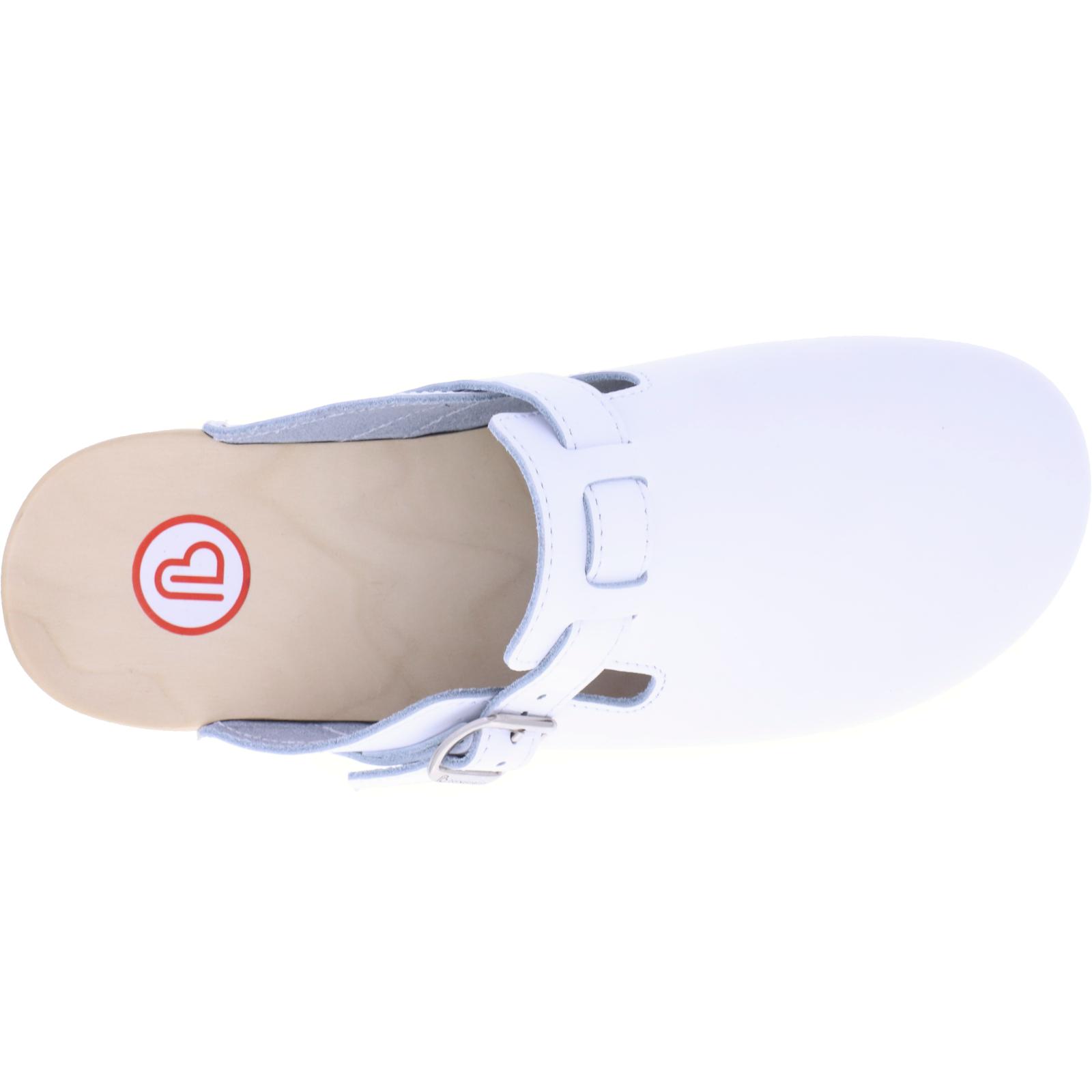 Art 00402-100 Berkemann Weiß Kalbsleder Unisex Riemen-Toeffler