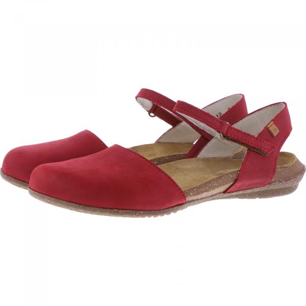 El Naturalista / Modell: N412 Wakataua / Farbe: Pleasent Tibet Rot Leder / Damen Ballerinas
