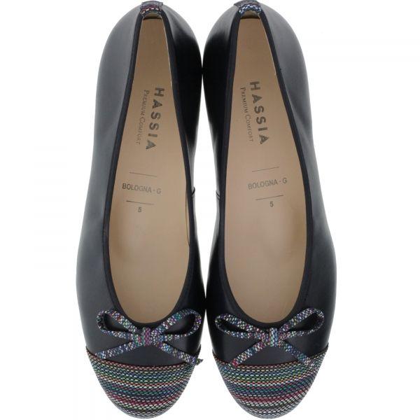 Hassia / Bologna / Ocean-Multi Leder / Wechselfußbett / Art: 3-300933-3000 / Damen Ballerinas