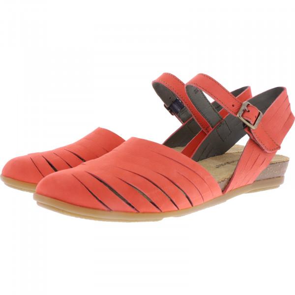 El Naturalista / Modell: N5201 Stella / Farbe: Pleasent Coral Rot Leder / Damen Ballerinas