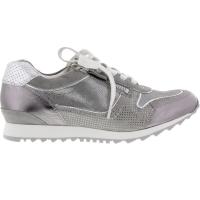 Hassia / Barcelona / Smoke-Silver Leder / Wechselfußbett / Art: 3-301917-6976 / Damen Sneaker