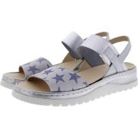 Brako / Modell: Ink / Star-Blue-Silver Leder / Wechselfußbett / Art: 2201 / Damen Sandalette