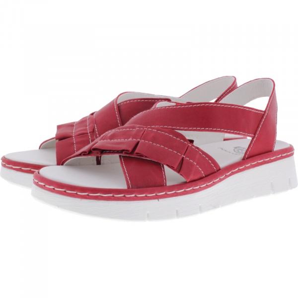 Brako / Modell: 2502 Shey / Rojo Rot Leder / Wechselfußbett / Damen Sandalen
