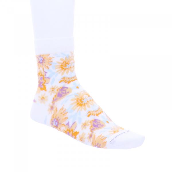 Birkenstock Damen Socken - Cotton Flowers - White Flowers