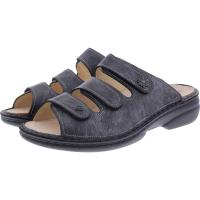 Finn Comfort / Menorca-Soft / Nerosilber/ Wechselfußbett / Art: 82564-410239 / Damen Pantoletten