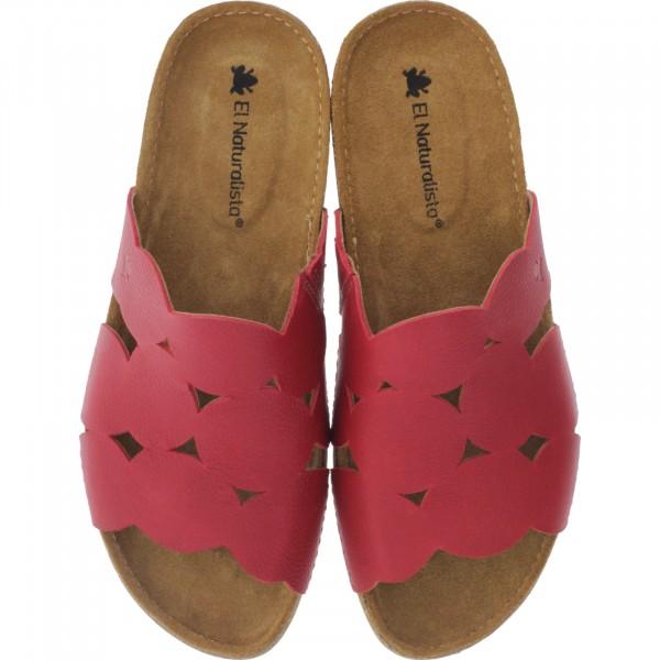 El Naturalista / Modell: N5222 Torcal / Farbe: Soft Grain Tibet Rot / Damen Pantoletten