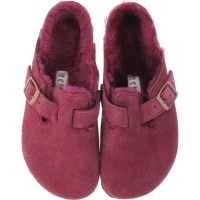 Birkenstock / Modell: Boston mit Lammfell / Bordeaux Leder / Weite: Normal / Art: 1006406 / Clogs