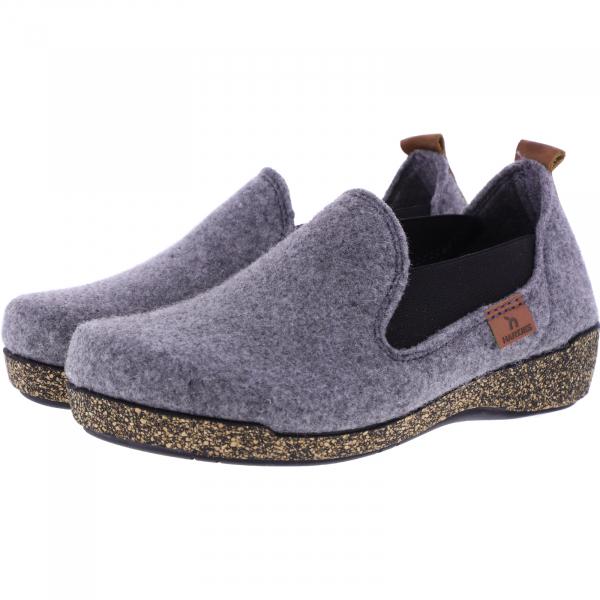 Hartjes / Modell: Feel Good / Grau Wolle / Weite: G / 5220874-1300 / Damen Hausschuhe