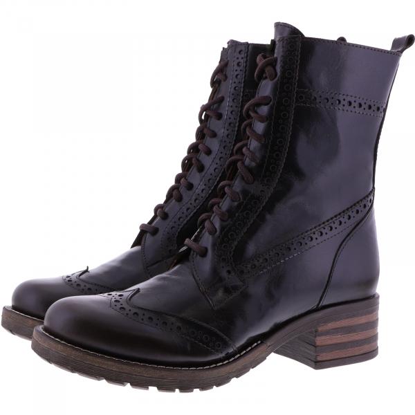 Brako / Modell: Military / Moka Dunkelbraun Bolero Glattleder / Art: 21054 / Damen Stiefel