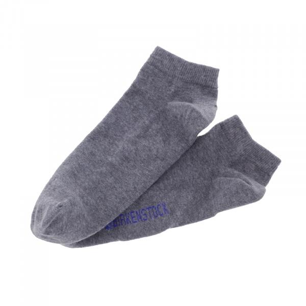 Birkenstock Herren Sneaker Socken - Cotton Sole Sneaker 2-Pack - Grau Melange