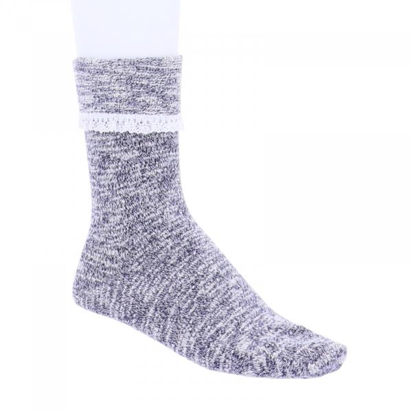 Birkenstock Damen Socken - Slub Lace - Blue - Baumwolle